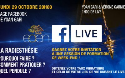 Facebook Live : Lundi 29 octobre 2018