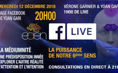 Facebook Live : Mercredi 12 décembre 2018