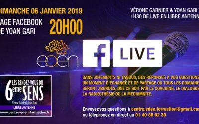 Facebook Live : Dimanche 06 janvier 2019