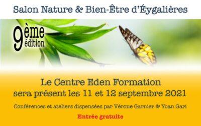 Le Centre Eden Formation au Salon d'Eygalières les 11 et 12 septembre 2021