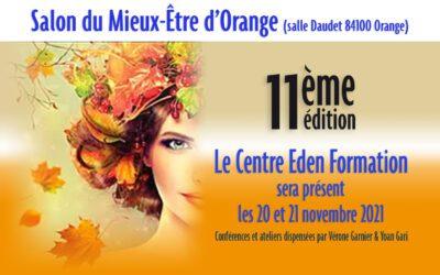 Le Centre Eden Formation au Salon d'Orange les 20 et 21 novembre 2021